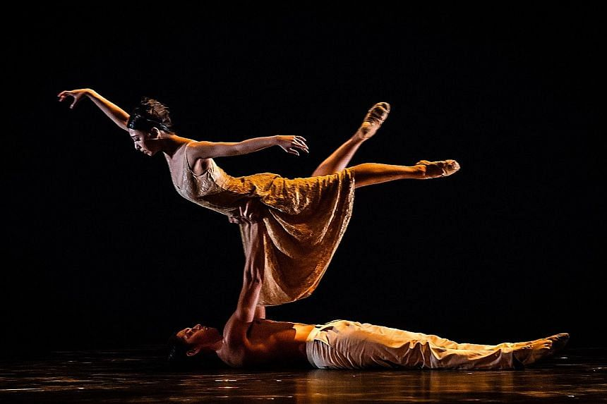 The Singapore Dance Theatre's Passages Contemporary Season includes 4Seasons (left) by Australian choreographer Natalie Weir, as well as works by Indonesian choreographer Gigi Gianti (top) and Singapore's Max Chen (above).