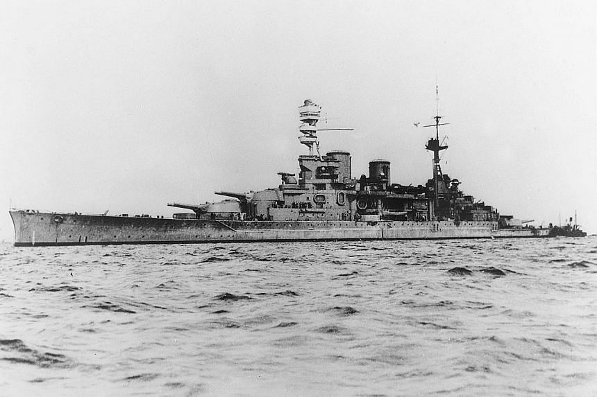 British battleships HMS Repulse (above) and HMS Prince of Wales are among the ships sunk during World War II near Pulau Tioman being illegally scavenged for scrap metal by boats from outside Malaysia.