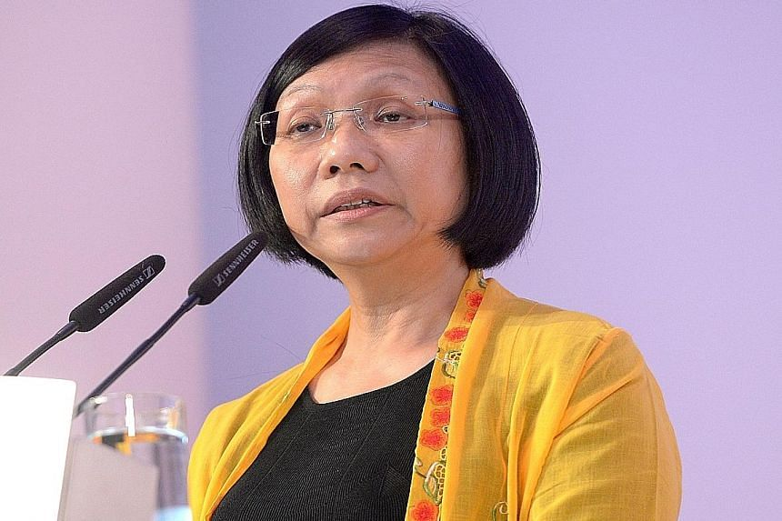 """Ms Diana Chia, who was elected NTUC president in 2011, said she is not seeking re-election as she will not be able to serve a full term, so she """"should leave and let the new leadership take over""""."""