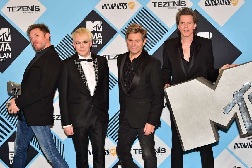 Duran Duran, comprising (from left) Simon Le Bon, Nick Rhodes, Roger Taylor and John Taylor, received a Video Visionary award.