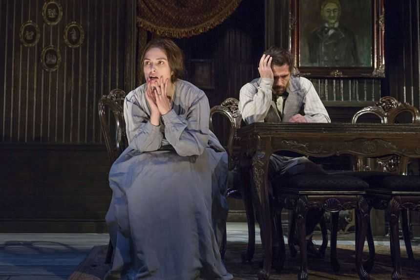 Keira Knightley as the lonely Therese Raquin and Matt Ryan as Laurent, the handsome friend of her husband with whom she has an affair.