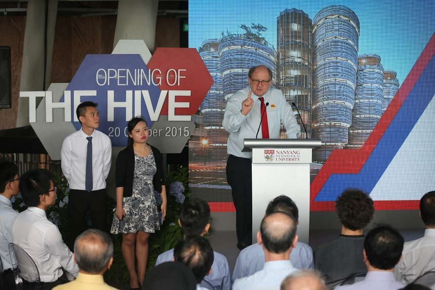 NTU President Prof Bertil Andersson giving a speech at the official opening of The Hive. The upcoming Nobel Prize Series will be produced by Nobel Media and the Nobel Museum in partnership with NTU.