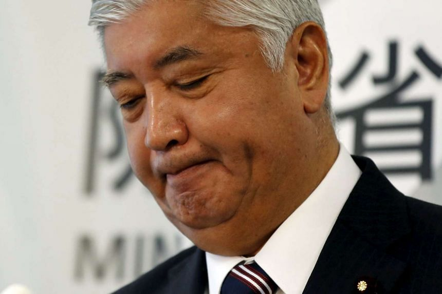 Japan's Defense Minister Gen Nakatani attends a news conference at the Defense Ministry in Tokyo, Japan, on Oct 27, 2015.