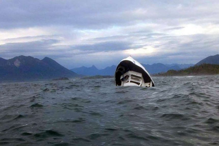 The Leviathan II was about 12km off Tofino, a resort town on the western edge of Vancouver Island, when a distress call was received saying the ship was sinking.