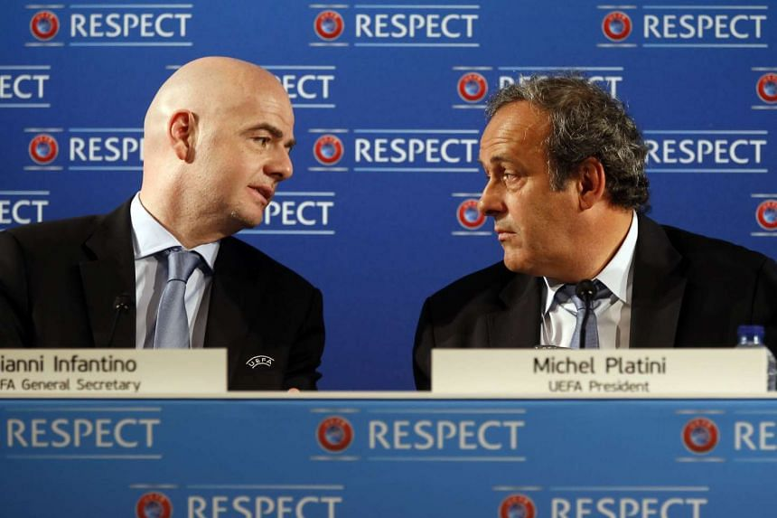 Fifa has confirmed seven candidates to run in elections for the presidency of the world governing body, including Uefa general secretary Gianni Infantino (left) and Uefa president Michel Platini (right).