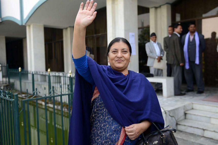 Communist Party of Nepal (Unified Marxist Leninist) vice-chairman Bidhya Bhandari has been elected the country's first female president.