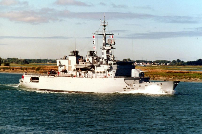 The French frigate Vendemiaire in a 1997 photo.