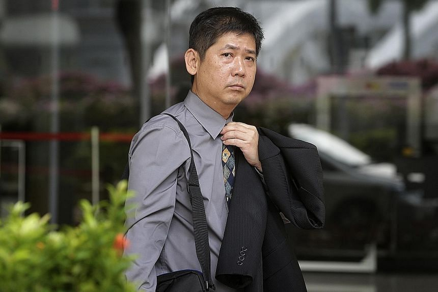 Govindasamy told ASP Jason Lim (above) that he threw the clothing he wore to the office and the bicycle chain and padlock he used into the Whampoa River.