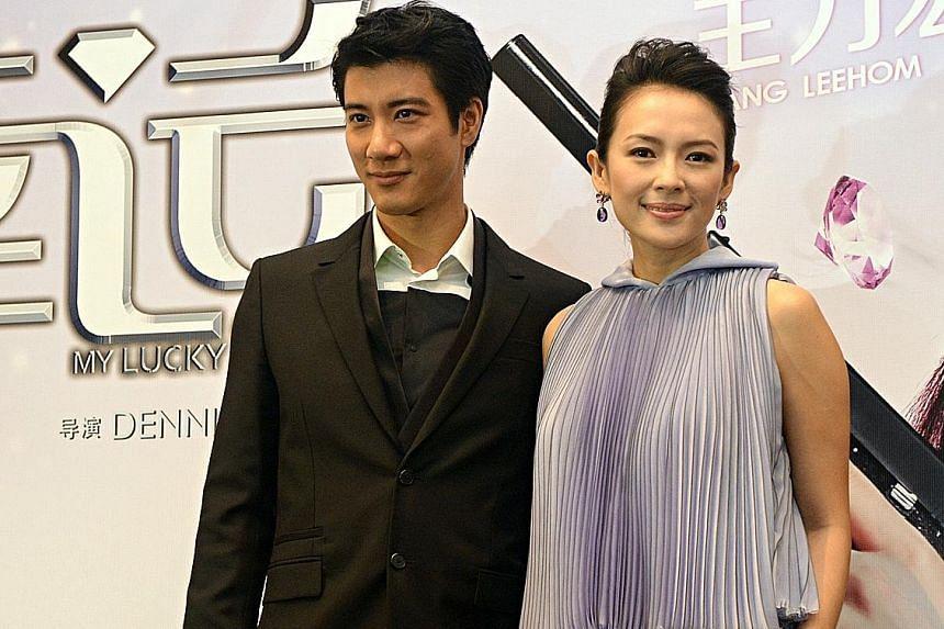 Chinese-American singer Wang Leehom and Chinese actress Zhang Ziyi (both above).