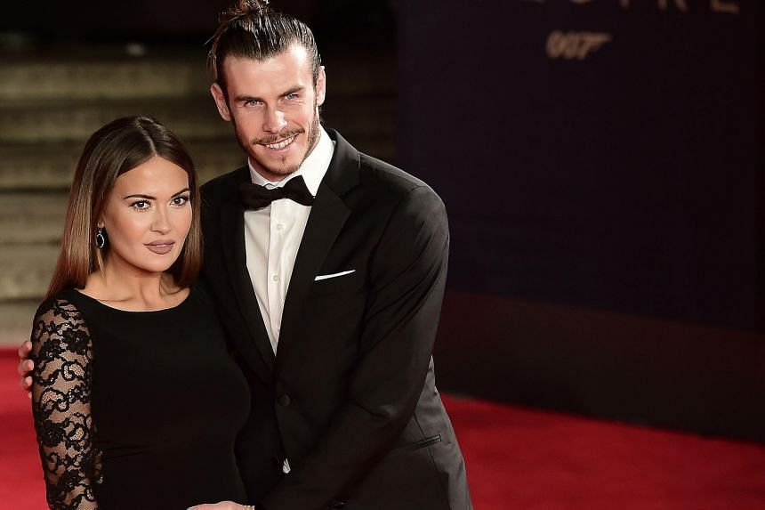 Other stars on the red carpet included Welsh footballer Gareth Bale and his wife Emma Rhys-Jones (both above).
