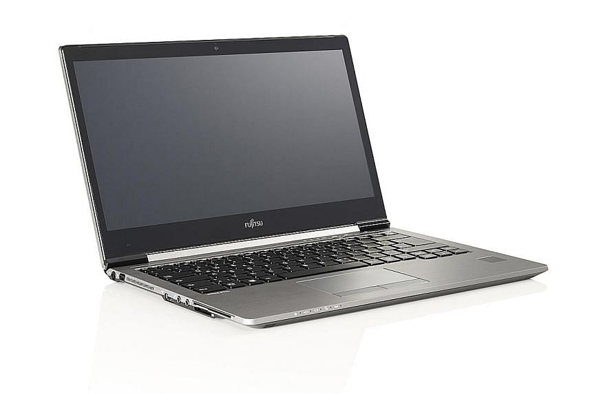 The Fujitsu LifeBook U745's palm scanner is more hygienic than a fingerprint reader, which makes it suitable for use in a medical setting.