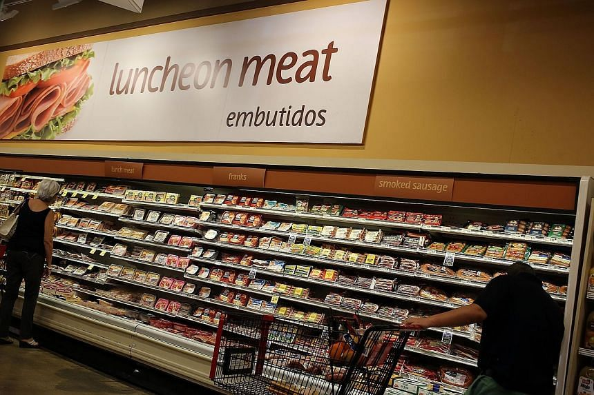 "Processed meats at a US grocery store. The North American Meat Institute said the UN agency behind the report ""tortured the data to ensure a specific outcome""."