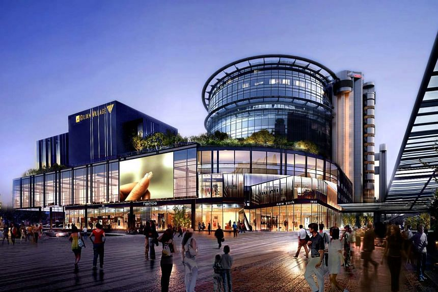 Artist's impression of the new retail mall at Singapore Post Centre.