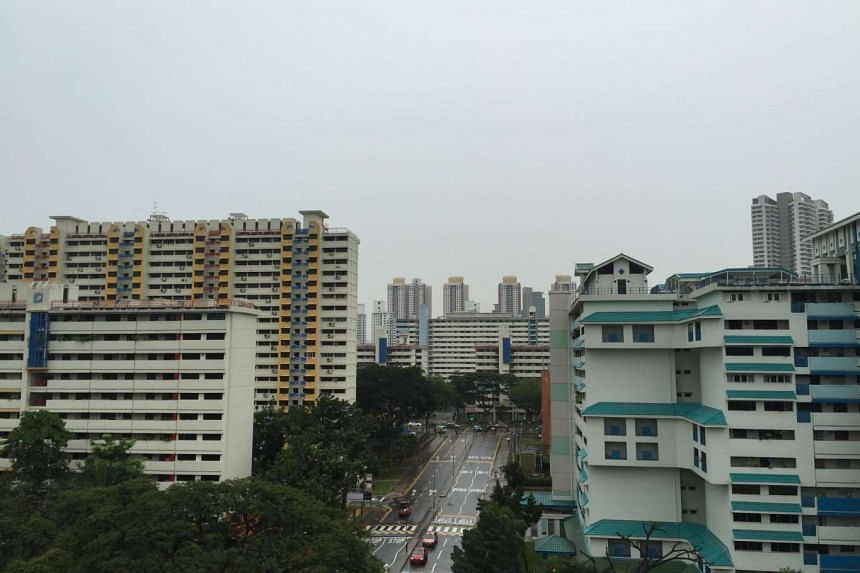 The haze situation in Toa Payoh at around 9am on Oct 28, 2015.