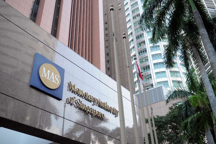 Facade of the Monetary Authority of Singapore building.