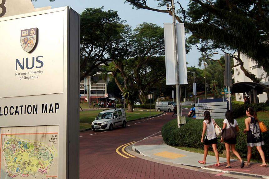 National University of Singapore campus.
