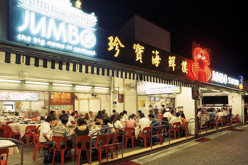 A Jumbo restaurant at East Coast Seafood Centre.