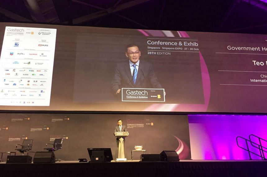 """International Enterprise Singapore CEO Teo Eng Cheong said he hoped the Singapore SGX LNG Index Group, a new weekly LNG spot price index, will evolve to become """"the Asian LNG price"""" over time. He was giving his keynote address at the Gastech conferen"""