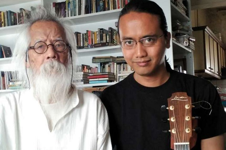 A. Samad Said will read his poetry at the festival while his son Az Samad accompanies him on the guitar.