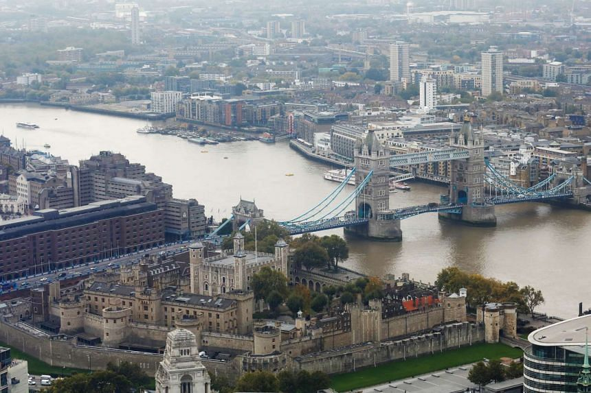 The River Thames is seen in London on Oct 19, 2015.