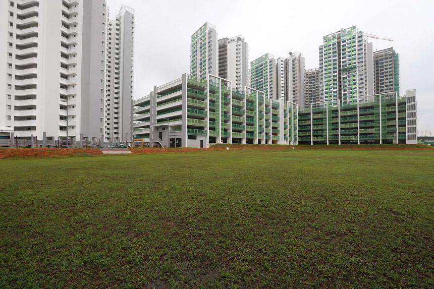 Flats at Fernvale Link, at the junction of Sengkang West Way.