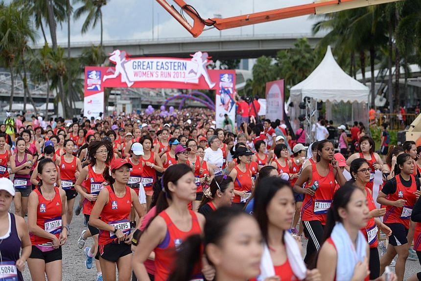 Sunday's Great Eastern Women's Run will be cancelled if the three-hour PSI exceeds 100. Organisers will provide two updates to participants - at 8.30pm on Saturday and 2.30am on race day.