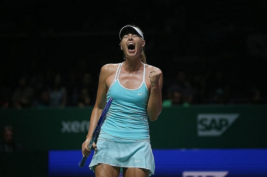 Maria Sharapova, who showed plenty of intensity in her gritty three-set victory over Agnieszka Radwanska on Monday night, revealed that there was a moment of levity during the match. A literary-inspired piece of advice from her coach, Sven Groeneveld