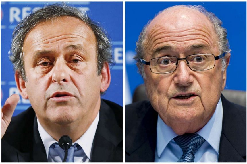 Uefa president Michel Platini (left) is among those whom outgoing Fifa president Sepp Blatter (right) has blamed for the ongoing corruption scandal.