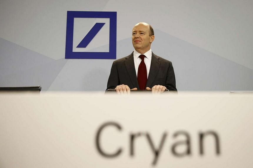 Deutsche Bank co-CEO John Cryan. PHOTO: REUTERS