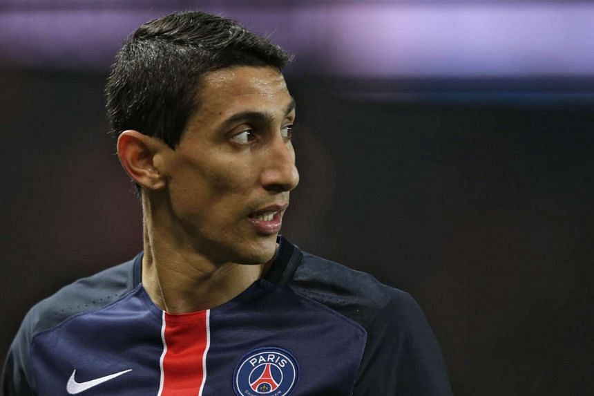 Paris Saint-Germain forward Angel Di Maria looks on during the French L1 football match against Olympique de Marseille at the Parc des Princes stadium in Paris on Oct 4, 2015.