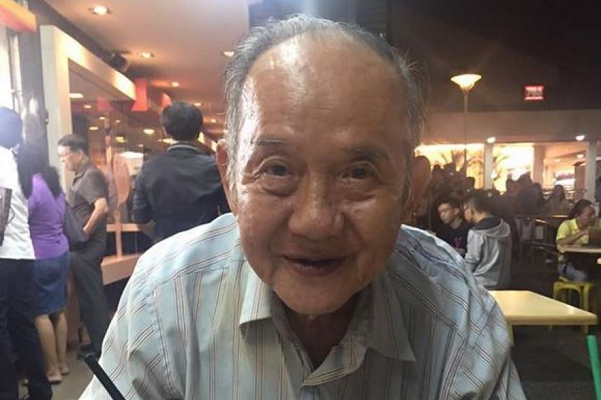 Mr Evan Poh learnt of the plight of this 83-year-old uncle when he bought him a meal at an Ang Mo Kio coffee shop.