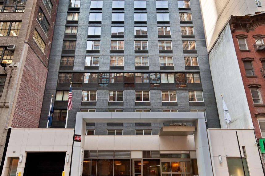 The Element New York Times Square West hotel in midtown Manhattan acquired by Ascott Reit, which released its third-quarter results yesterday, posting a 21 per cent rise in revenue to $113.2 million. Mr Lim Jit Poh, chairman of the manager, said six