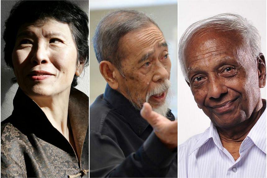 Shirley Geok-Lin Lim, Suratman Markasan and Ktm Iqbal.