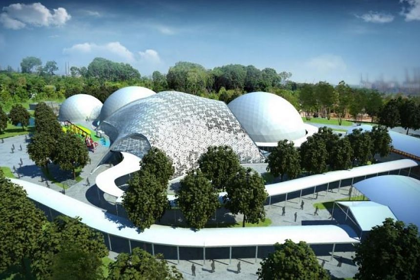 An artist's impression of The Future of Us exhibition at Gardens by the Bay, which opens on Dec 1.