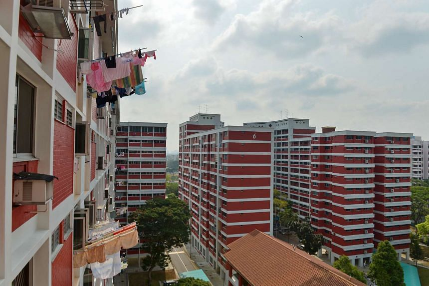 HDB flats in Toh Yi estate. Mr Lawrence Wong praised the impact of the Proximity Housing Grant, which makes it more affordable for Singaporeans to purchase a resale flat.