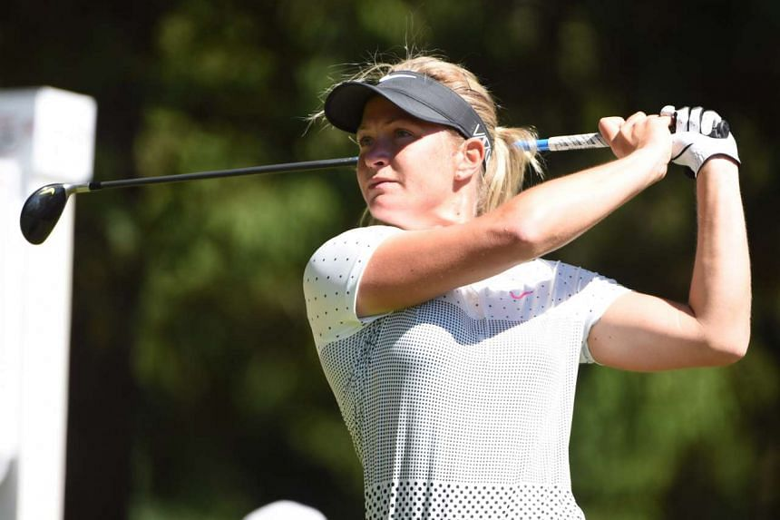 Norway's Suzann Pettersen fired four birdies in a three-under 69 round to sit second on one-under, one off the pace.