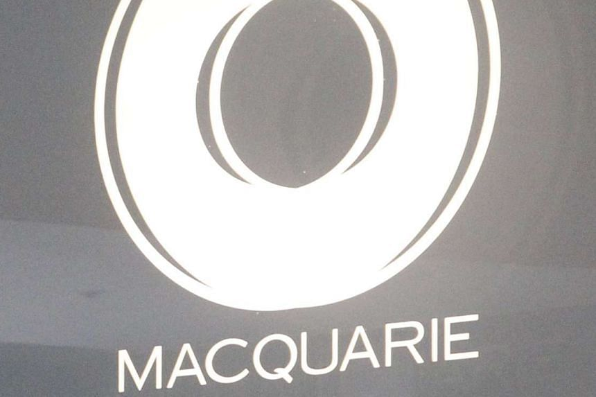The Macquarie Group logo in central Sydney in 2010.