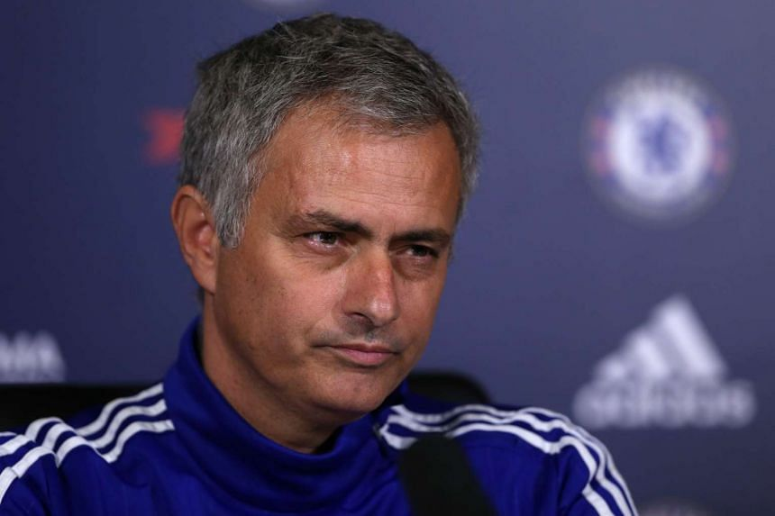 Jose Mourinho at a press conference in Chelsea's training ground on Oct 30, 2015.