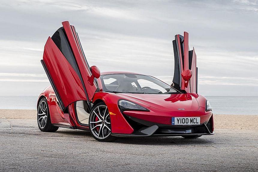 The McLaren 570S has razor-sharp steering that is full of feel.