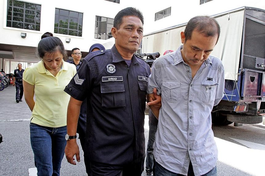Chin Chui Ling (left) and Soh Chew Tong being taken to the Penang High Court in 2013. Yesterday, the Court of Appeal found them guilty of murder over the death of their Cambodian helper.