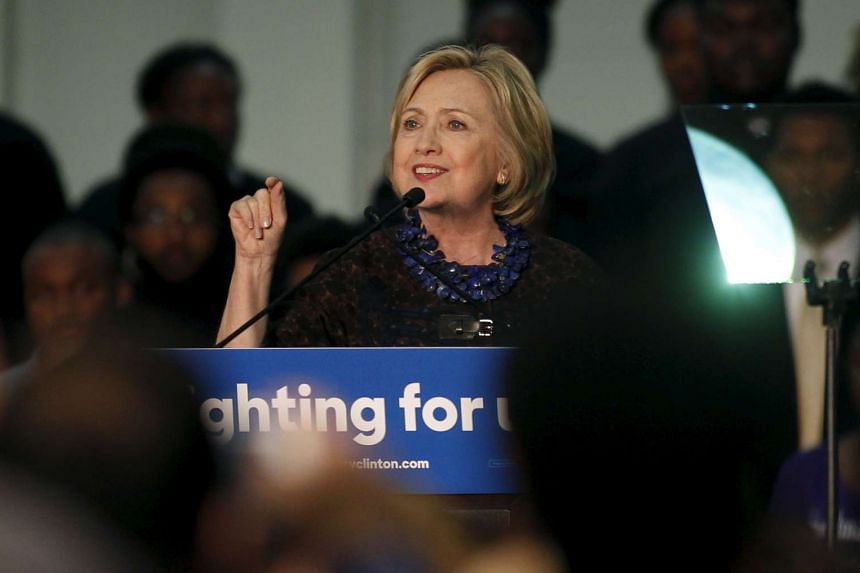 Democratic presidential candidate Hillary Clinton speaking at the African Americans for Hillary rally at Clark Atlanta University, Georgia, on Oct 30 2015.
