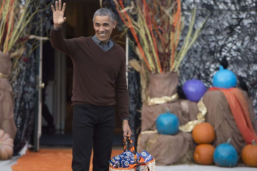 US President Barack Obama attending a Halloween event at the White House on Oct 30, 2015.