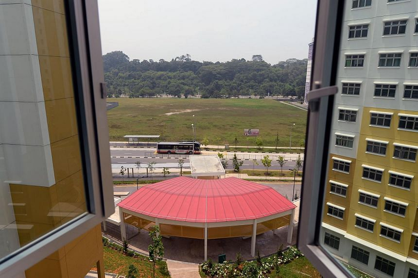 Some residents of a BTO project in Chua Chu Kang are unhappy as they thought a school would be built in front of their flats, but instead an executive condominium is going to be built, blocking their view.