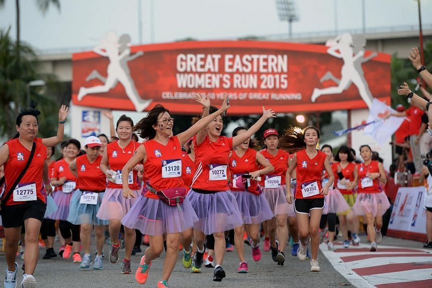 About 17,000 female runners - some as young as three years old - were some of Sunday's earliest risers as they took part in the Great Eastern Women's Run, Singapore's largest all-women mass run.