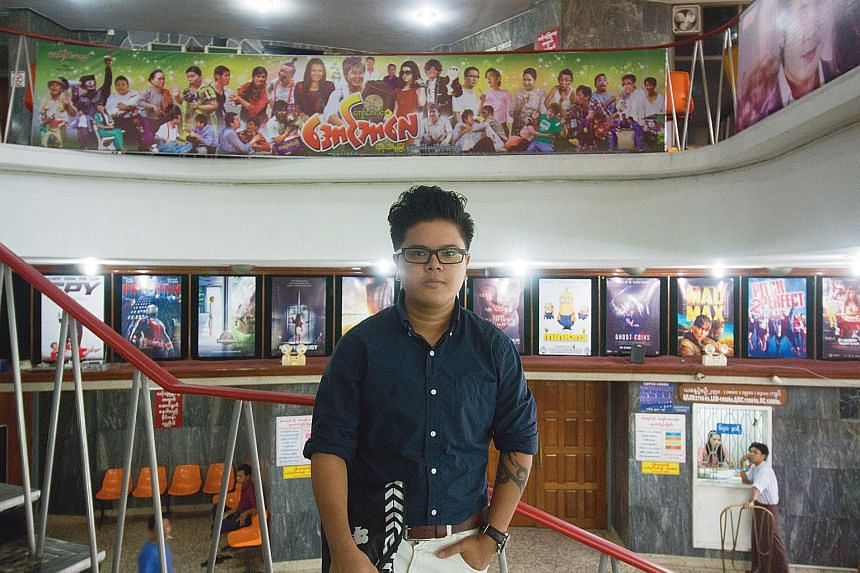 Mr Kriz Channyein, who has made and produced films in Singapore, returned to Myanmar in July as he wanted to make art in his home country too. He sees film-making as a way of opening people's minds.