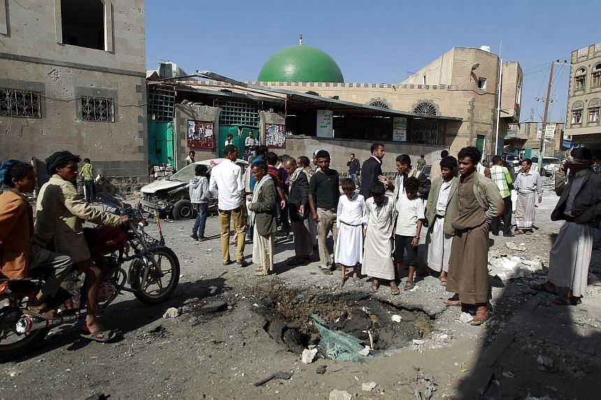 In a tweet, ISIS claimed this suicide attack on a Shi'ite mosque in the Yemeni capital of Sanaa, in September. The terror group's media division Al-Hayat Media has put out a string of videos interspersed withreligious chants that attract new figh