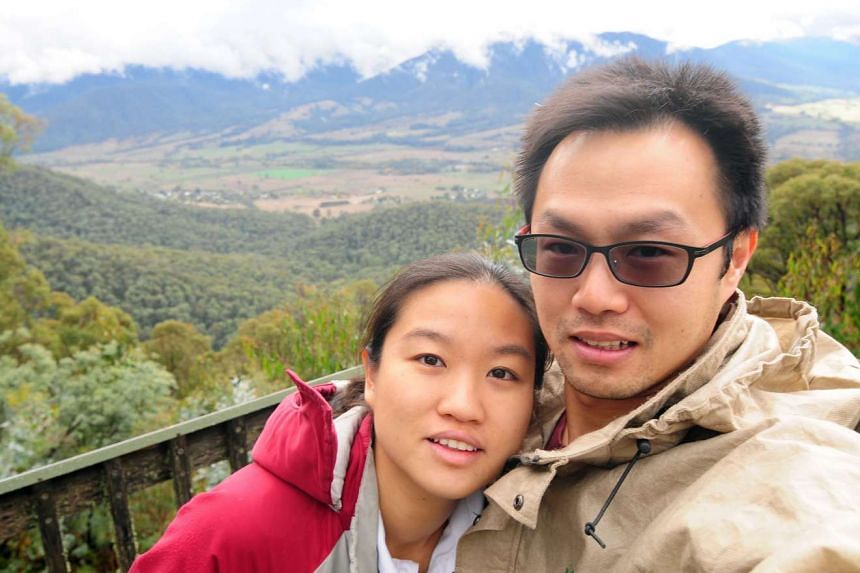Mr Shawn Ang and Ms Abegail Wee (both above) like the freedom to travel without having to worry about children. Mr Mark Ko and Ms Pang Siew Luan relish the freedom to spend money and time on themselves.