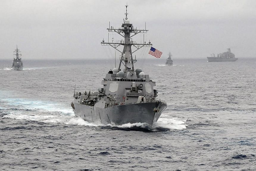 The US Navy guided-missile destroyer USS Lassen sails in the Pacific Ocean in a Nov 2009 photo provided by the US Navy.