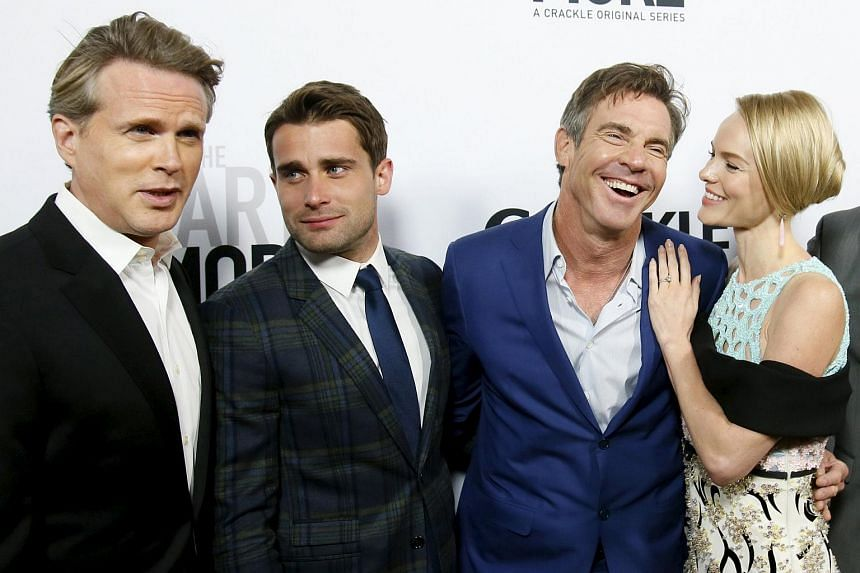 The cast of The Art Of More includes (from left) Cary Elwes, Christian Cooke, Dennis Quaid, who is also executive producer, and Kate Bosworth.