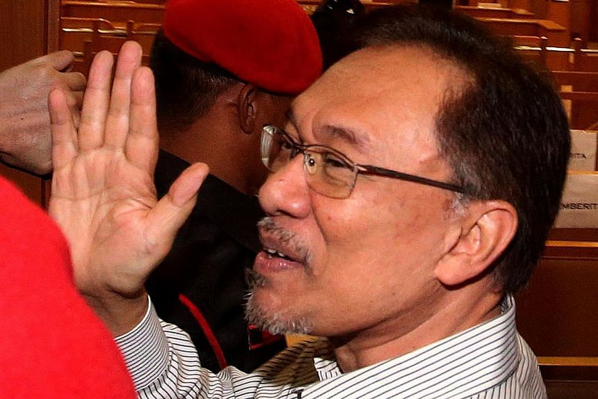 Anwar Ibrahim at the Syariah court of appeal in Kuala Lumpur on March 24, 2015.